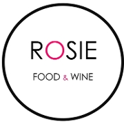 This is the restaurant logo for Rosie Food and Wine