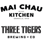 This is the restaurant logo for Mai Chau Kitchen at Three Tigers