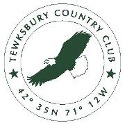 This is the restaurant logo for Tewksbury Country Club