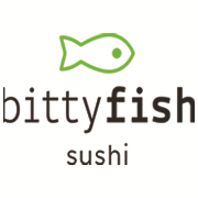 This is the restaurant logo for BittyFish Sushi