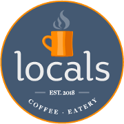 This is the restaurant logo for Locals Coffee & Eatery
