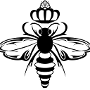 Restaurant logo for Queen Bee Coffee Company