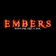This is the restaurant logo for Embers Wood Fired Grill & Bar