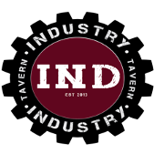 This is the restaurant logo for Industry Tavern