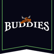 This is the restaurant logo for Buddies Pub and Grill