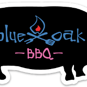 This is the restaurant logo for Blue Oak BBQ