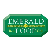 This is the restaurant logo for Emerald Loop Bar & Grill