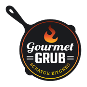 This is the restaurant logo for Gourmet Grub Scratch Kitchen