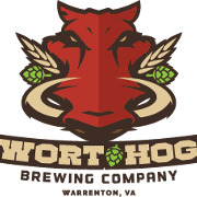 This is the restaurant logo for Wort Hog Brewing Company