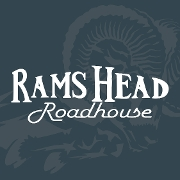 This is the restaurant logo for RAMS HEAD ROADHOUSE