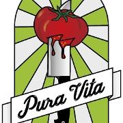 This is the restaurant logo for Pura Vita