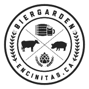 This is the restaurant logo for The Bier Garden