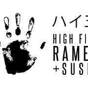 This is the restaurant logo for High Five Ramen