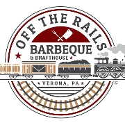 This is the restaurant logo for Off the Rails Barbeque and Drafthouse