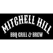 This is the restaurant logo for Mitchell Hill BBQ, Grill & Brew
