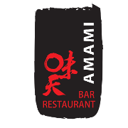 This is the restaurant logo for Amami Bar & Restaurant