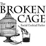 This is the restaurant logo for The Broken Cage