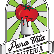This is the restaurant logo for Pura Vita Pizzeria