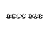 This is the restaurant logo for Belo Bar