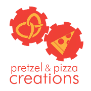 This is the restaurant logo for Pretzel and Pizza Creations