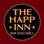 This is the restaurant logo for The Happ Inn Bar & Grill