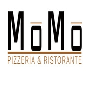 This is the restaurant logo for MoMo Pizzeria & Ristorante