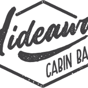 This is the restaurant logo for Hideaway Cabin Bar