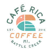 This is the restaurant logo for Cafe Rica