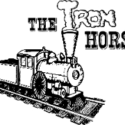 This is the restaurant logo for The Iron Horse