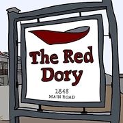 This is the restaurant logo for The Red Dory