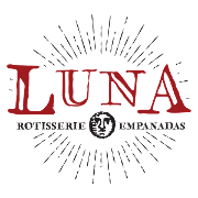 This is the restaurant logo for Luna Rotisserie and Empanadas