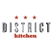 This is the restaurant logo for District Kitchen