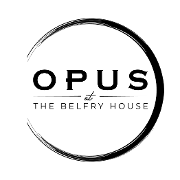 This is the restaurant logo for Opus at The Belfry House