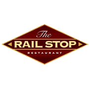This is the restaurant logo for The Rail Stop