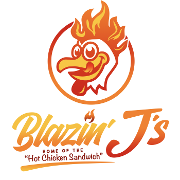 This is the restaurant logo for Blazin J's