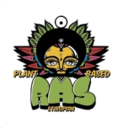 This is the restaurant logo for Ras Plant Based