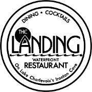 This is the restaurant logo for The Landing Restaurant