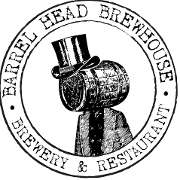 This is the restaurant logo for Barrel Head Brewhouse