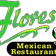 This is the restaurant logo for Flores Mexican Restaurant