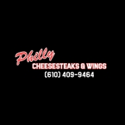 This is the restaurant logo for Philly Cheesesteaks & Wings