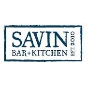This is the restaurant logo for Savin Bar + Kitchen