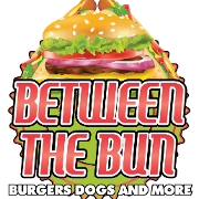 This is the restaurant logo for Between the Bun - Burgers, Dogs & More