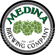 This is the restaurant logo for Medina Brewing Company