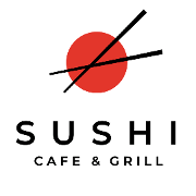 This is the restaurant logo for Sushi Cafe West