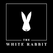 This is the restaurant logo for The White Rabbit