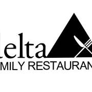 This is the restaurant logo for Delta Family Restaurant