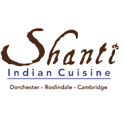 This is the restaurant logo for Shanti