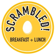 This is the restaurant logo for Scrambled!
