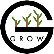 This is the restaurant logo for GROW Café + Bistro