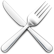 This is the restaurant logo for Manna Cafe & Eatery